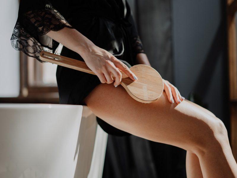 Dry brush massage