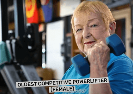 Edith Murway-Traina is officially the oldest athlete in powerlifting celebrates her 100th birthday on August 8, 2021.